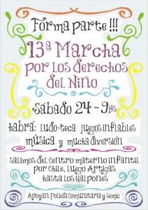 Afiche 13ra Marcha por los Derechos del Niño