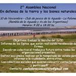 Afiche Segunda Asamblea Nacional contra la Megaminería en Uruguay en La Paloma