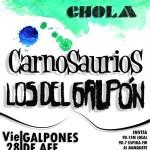 Afiche de la FestYChola 2012 en los galpones de AFE, Santa Lucía