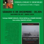 Afiche Presentacion de Exilio Exilio Desexilio en Santa Lucía el 15-12-12